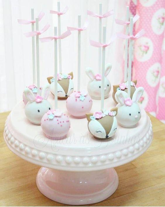 Cake pops de animalitos del bosque