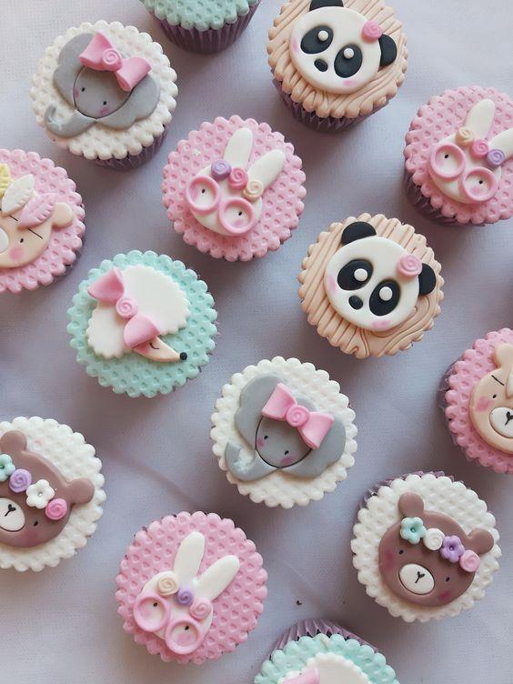 Cupcakes de animalitos del bosque