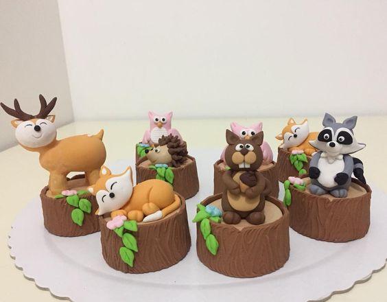 Ideas para candy bar de animalitos del bosque