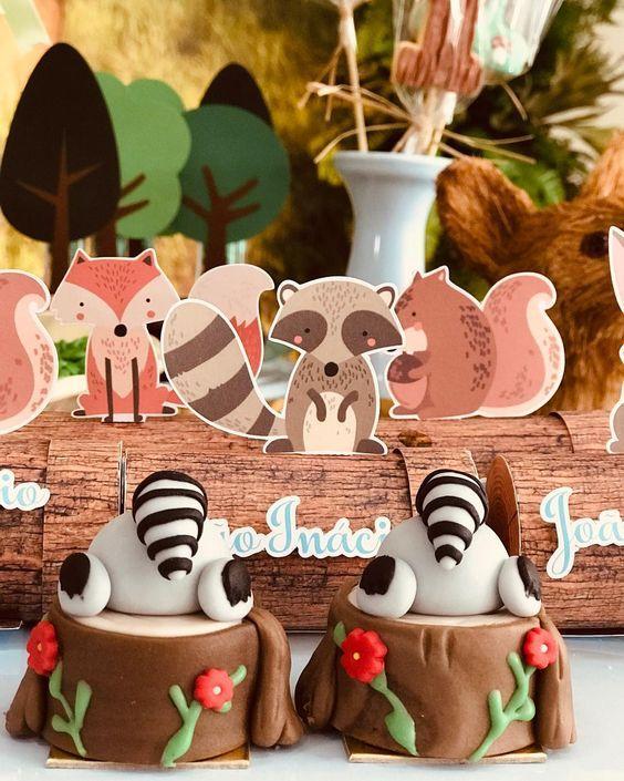 ideas de decoración de animalitos del bosque