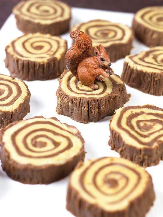 Dulces decorados de animalitos del bosque