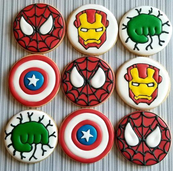 Ideas galletas Avengers
