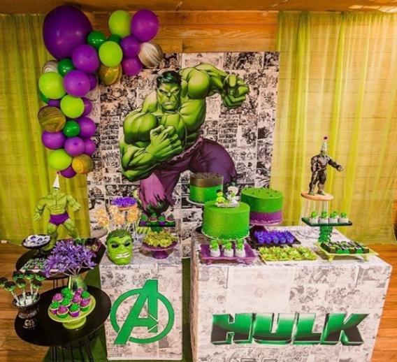 Geniales ideas para una fiesta del Increíble Hulk