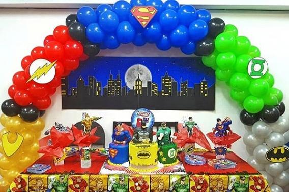 Ideas decoración de cumpleaños de la Liga de la Justicia
