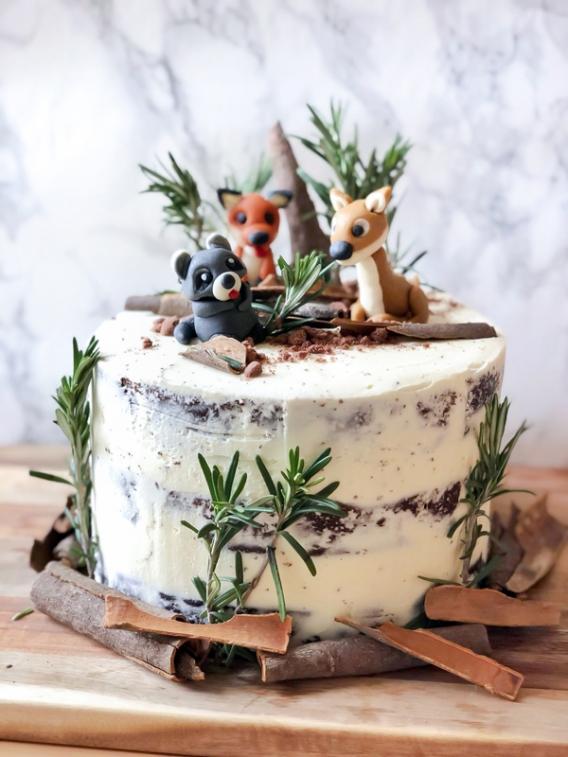 Torta animalitos del bosque