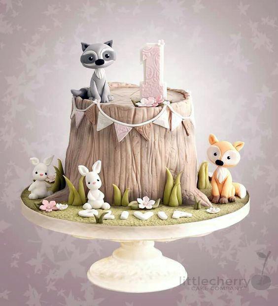 Torta animalitos del bosque 1 año