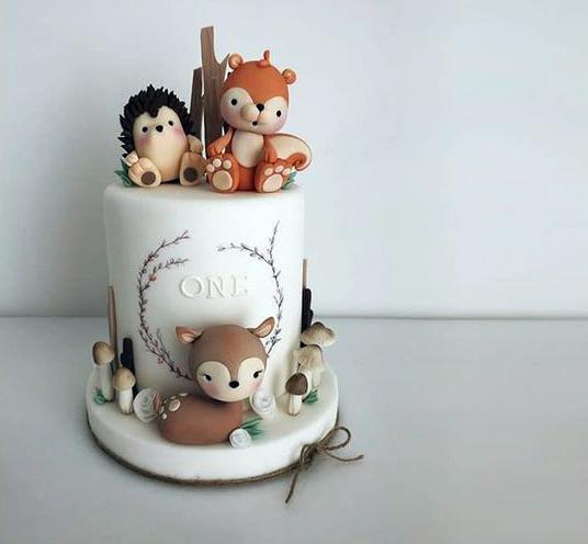 Torta animalitos del bosque bebé