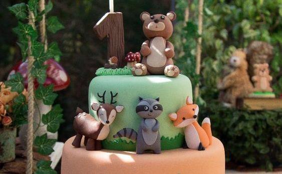 Las tortas más lindas de animalitos del bosque
