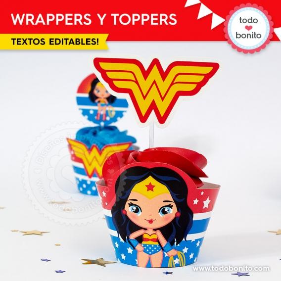Cupcakes Mujer Maravilla
