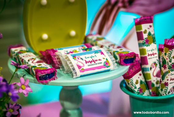 Candy bar flamencos por Mica