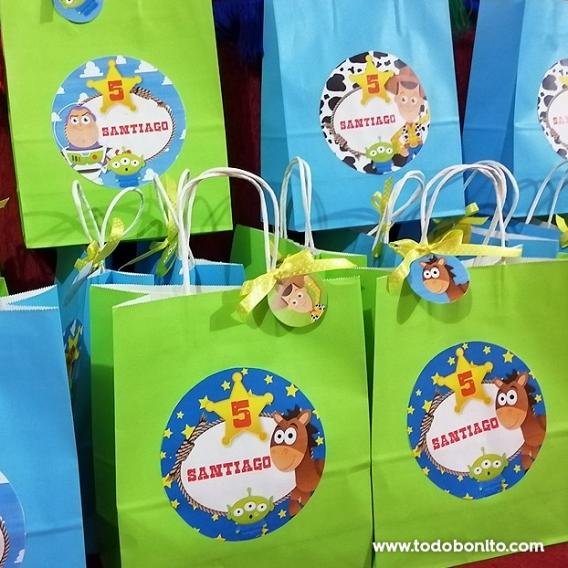 Bolsitas con stickers Toy Story Todo Bonito