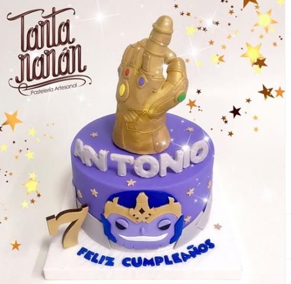 Torta de cumpleaños de Thanos