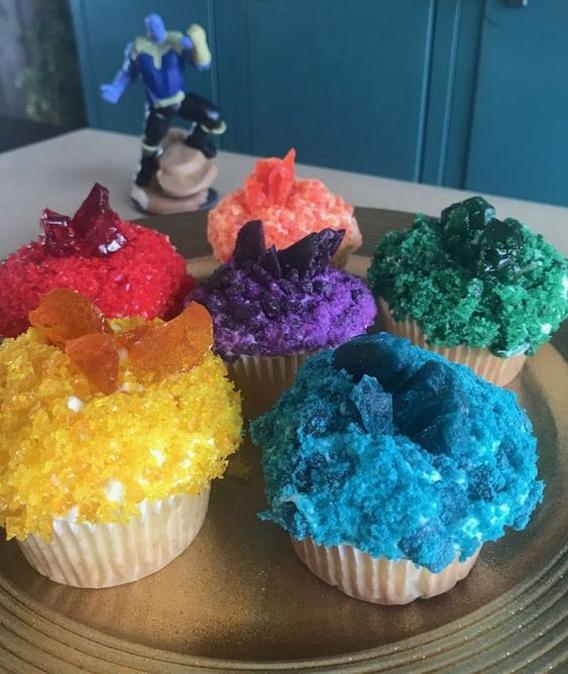 Cupcake gemas guantelete thanos