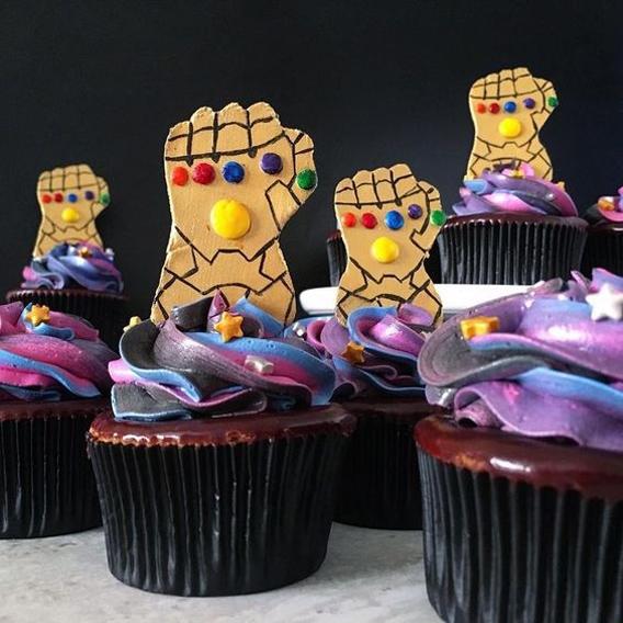 Cupcake guantelete thanos