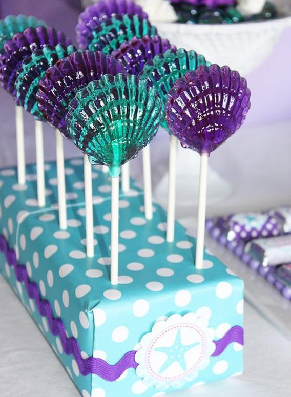 Ideas para mesa de dulces de fiesta de sirena