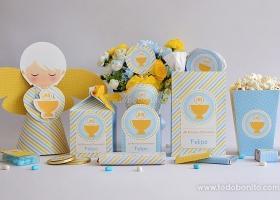 Imprimibles con Cáliz amarillo para Comunión