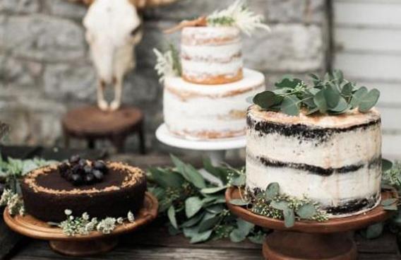 Tortas decoradas con hojas