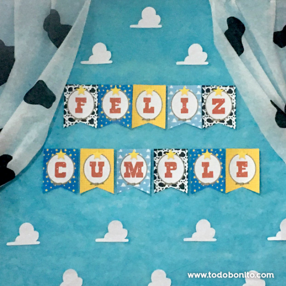 Banderines Kit Imprimible Toy Story Todo Bonito
