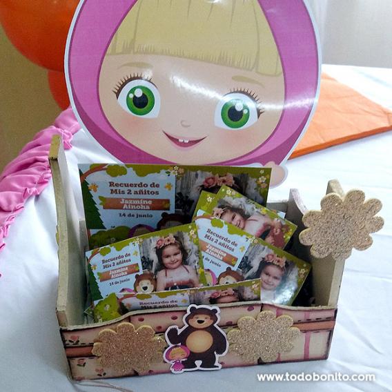 Souvenirs con foto cumpleaños Masha y el Oso