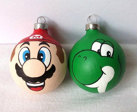 Bolas de Navidad Super Mario