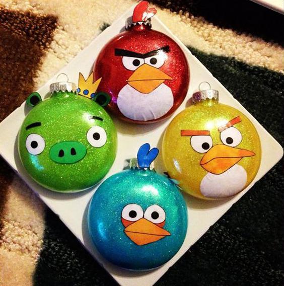 Bolas de Navidad Angry Birds