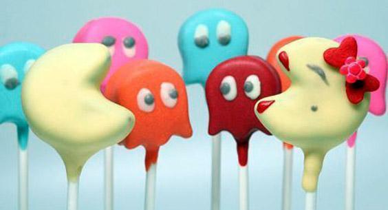 Cake pops de Pac-man