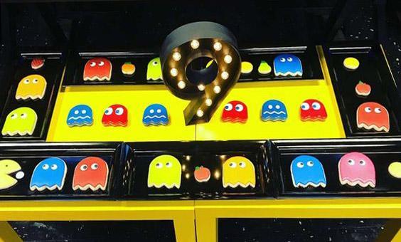 Galletas decoradas con temática de Pac-man