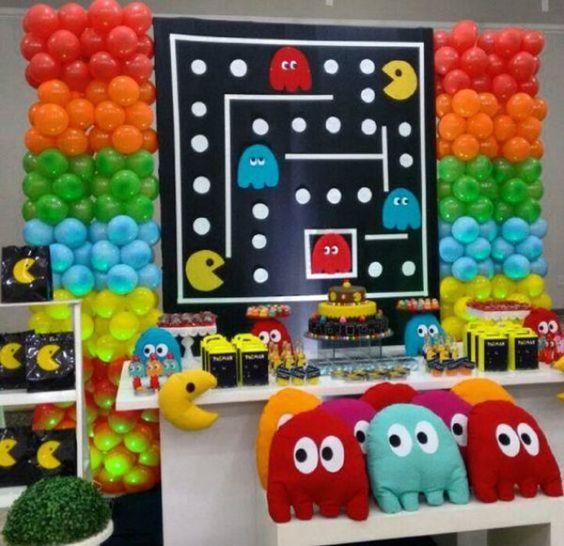Cumpleaños decorado con Pac-man
