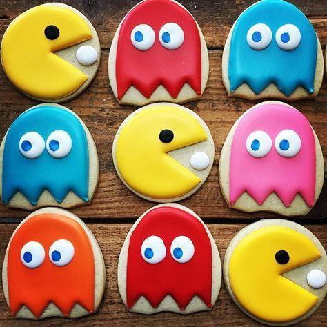 Galletas decoradas de Pac-man
