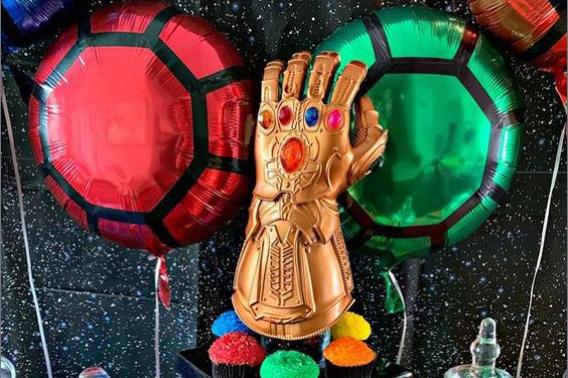 Ideas decoración de fiesta de Thanos