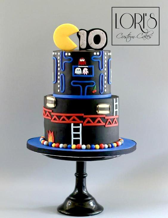 Torta de cumpleaños de pac-man