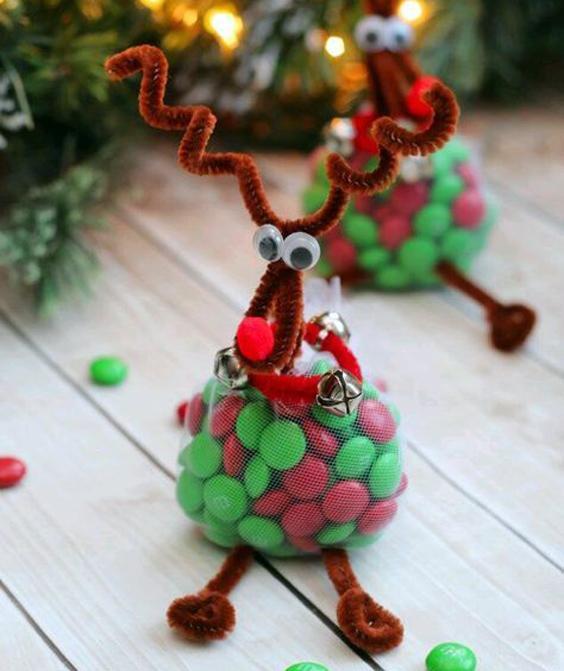 Presentes para Navidad con forma de reno