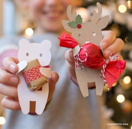 Presentes para Navidad con golosinas