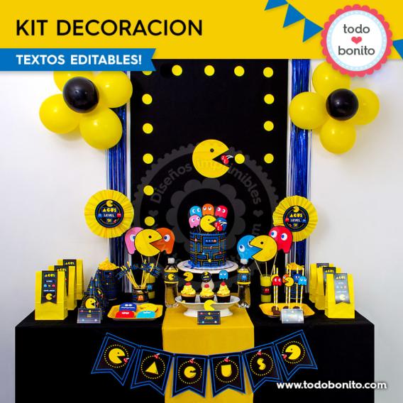 Kit decoración de Pacman