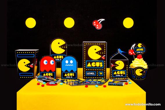 Cajitas imprimibles de Pacman