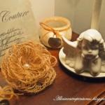 Flores de arpillera estilo rústico paso paso