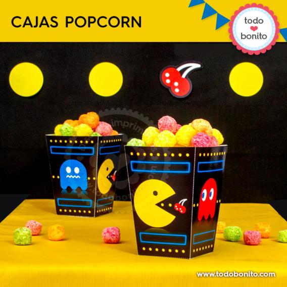Caja popcorn de Pacman por Todo Bonito