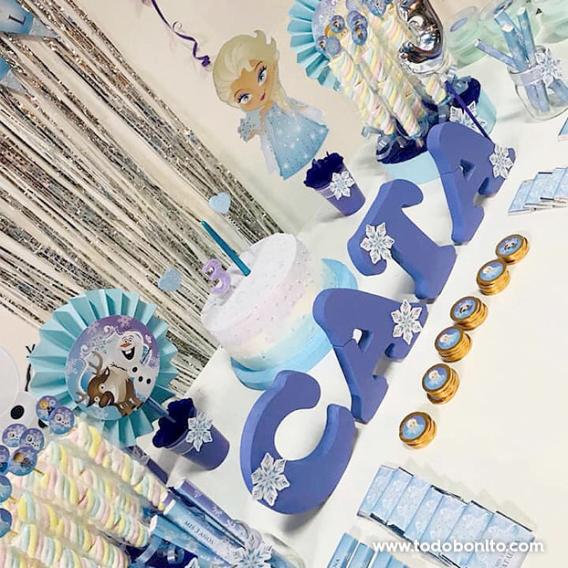 Ideas decoración de fiesta de Frozen