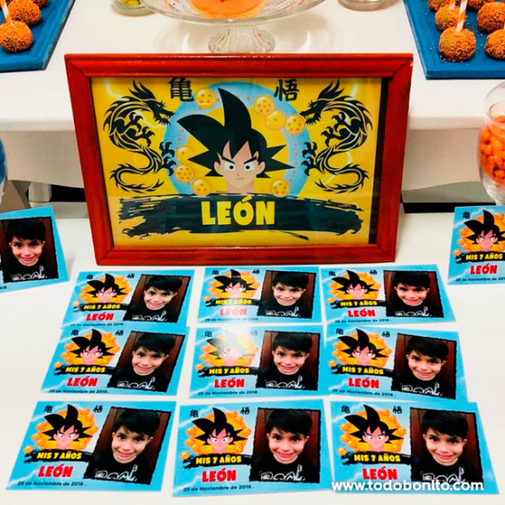 Souvenirs cumple de Dragon Ball