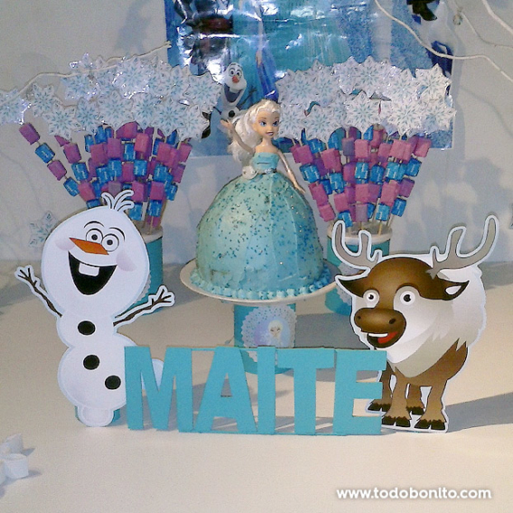 Decoraciones mesa dulce de Frozen