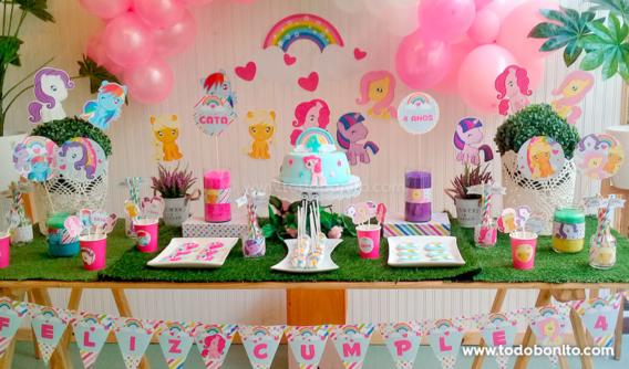 Una mesa dulce de Ponys soñada para Cata