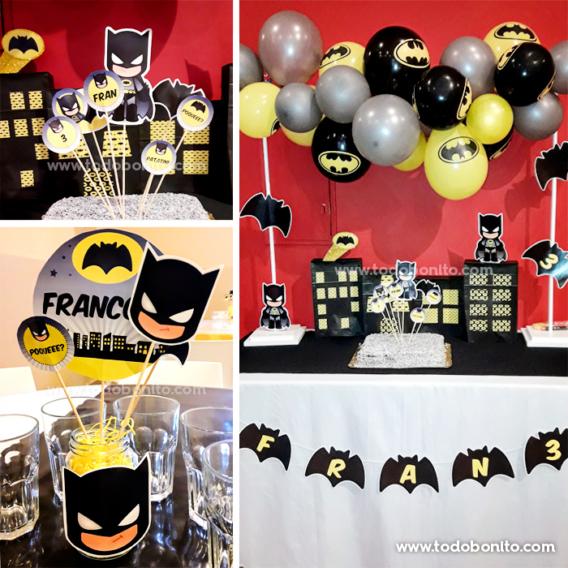 Ideas Kit imprimible de Batman de Todo Bonito