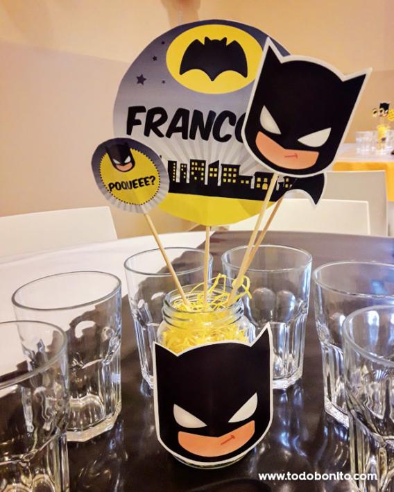 Centro de mesa de Batman