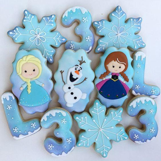 Ideas galletas decoradas de Frozen