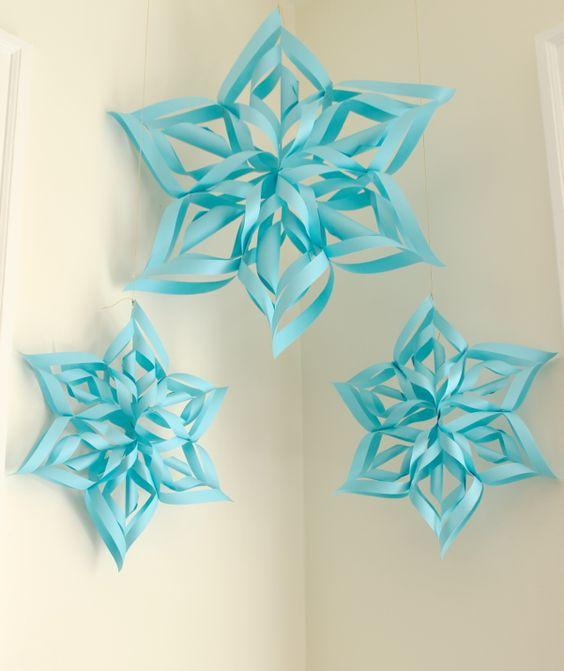 Ideas decoraciones de Frozen con papel