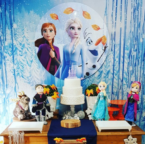 Ideas adornos fiesta Frozen 2