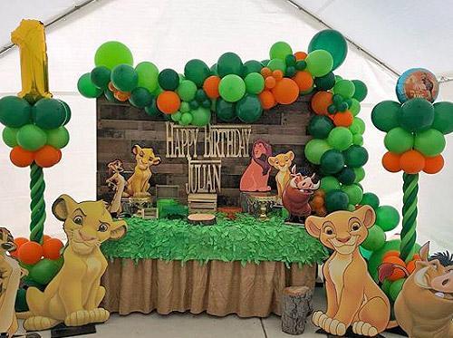 Hermosas ideas de fiesta de El Rey León