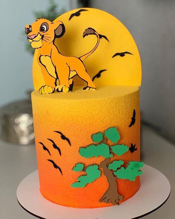 Las más lindas tortas de El Rey León