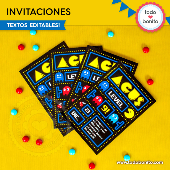 Invitaciones de Pacman