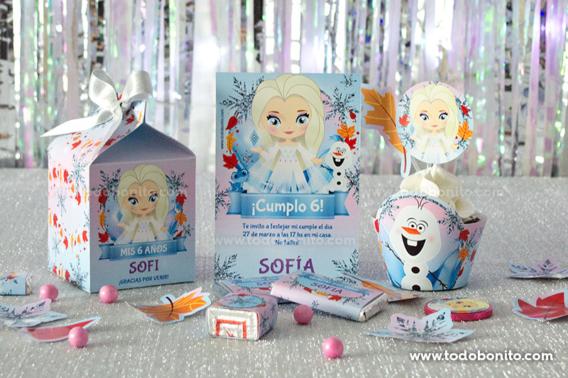 Kit Imprimible Frozen 2 Elsa pelo suelto